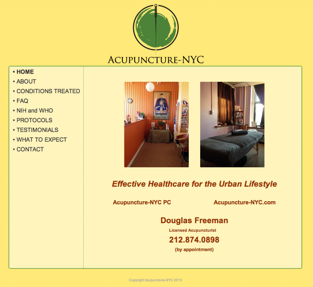 Acupuncture NYC Website