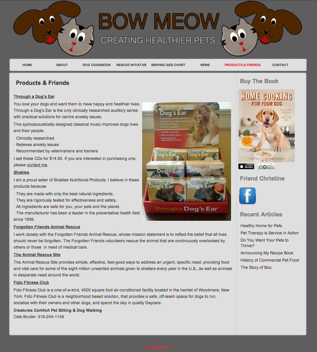 Bow Meow Raw Website